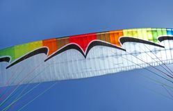 Tandem Paraglide wing flying stock image