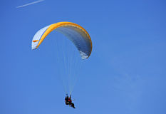 Tandem paraglider Royalty Free Stock Image