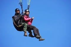 Tandem Paraglider Stock Image