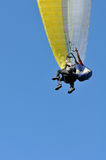 Tandem paragliders royalty free stock photography