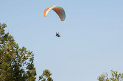 Tandem paragliding Stock Photo