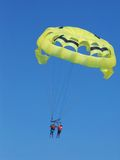 Tandem parasailing, Cancun, Mexico Royalty Free Stock Images