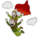 Tandem Sky Diving Royalty Free Stock Photo