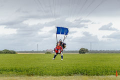 Tandem skydive landing in Seville. Spain Stock Images