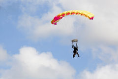 Tandem of skydivers Stock Image