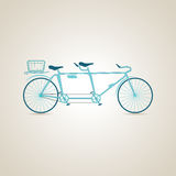 Tandem. Sport. Illustration. Tandem. Sport and Bike. Bicycle. Illustration Royalty Free Stock Photography