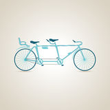 Tandem. Sport. Illustration royalty free stock images