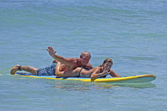 Tandem Surf Couple Royalty Free Stock Photos
