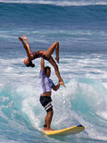 Tandem  Surfers Royalty Free Stock Images