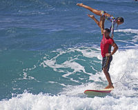 Tandem Surfing Stock Photos