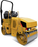 Tandem vibratory roller Stock Images