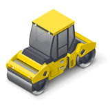 Tandem vibratory roller icon Royalty Free Stock Images
