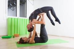 Tandem yoga Stock Photos