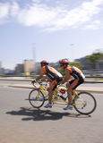 Tandema cyklister - 94.7 cirkulering Challenge Royaltyfri Fotografi