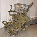 Tandemflugabwehrmaschinengewehrberg ZPU-2 Kalibr- 14 5 Millimeter Stockfotos
