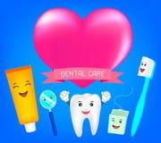 Tanden beste vrienden met hart Stock Afbeelding