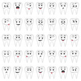 Tanden die voor uw ontwerp worden geplaatst Stock Afbeelding