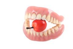 Tanden en appel. Royalty-vrije Stock Afbeeldingen