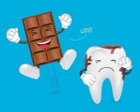 Tanden en chocolade Royalty-vrije Stock Fotografie