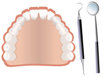 Tanden en tandhulpmiddelen Royalty-vrije Stock Fotografie