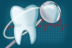 Tanden en tandinstrumenten Royalty-vrije Stock Afbeeldingen