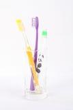 Tandenborstel drie Stock Afbeelding