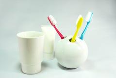 Tandenborstelreeks Stock Afbeelding