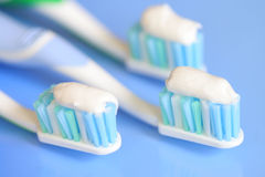 Tandenborstels Stock Afbeelding