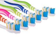 Tandenborstels (het knippen weg) Stock Fotografie