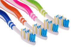 Tandenborstels (het knippen weg) Royalty-vrije Stock Afbeeldingen