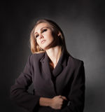 Tander  woman in jacket Stock Images