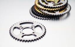 Tandhjul eller motorcykeltandhjul eller kugghjul Royaltyfri Bild