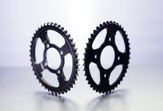 Tandhjul eller motorcykeltandhjul eller kugghjul Royaltyfria Foton