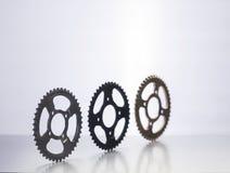 Tandhjul eller motorcykeltandhjul eller kugghjul Arkivbilder