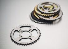 Tandhjul eller motorcykeltandhjul eller kugghjul Royaltyfri Fotografi