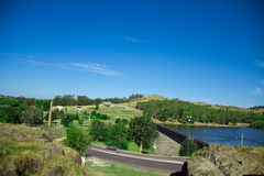 Tandil, Buenos Aires, Argentina. Small city near the hills in the middle of Buenos Aires. Famous for its moving rock and religious paths Royalty Free Stock Images