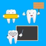 Tandkarakter met teken Stock Afbeelding