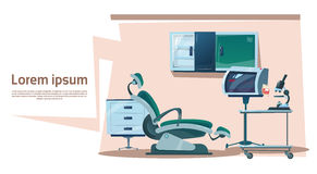 Tandkliniek Binnenlandse Tandarts Workplace Hospital Medicine vector illustratie