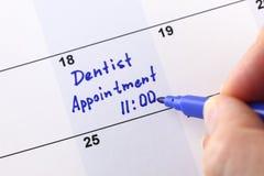 Tandläkare Appointment Royaltyfria Bilder