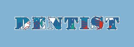 Tandläkare Concept Word Art Illustration stock illustrationer