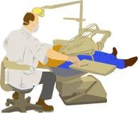 tandläkarearbete royaltyfri illustrationer