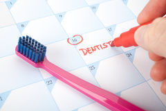 Tandläkarebesökpåminnelse Royaltyfria Foton