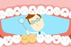 Tandläkarekontrolltand vektor illustrationer