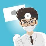 Tandläkaren gjuter det muntligt royaltyfri illustrationer
