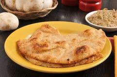 Tandoor bakte naan brood Stock Afbeeldingen