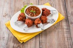 Tandoori鸡或鸡棒棒糖 免版税库存照片