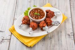 Tandoori鸡或鸡棒棒糖 免版税库存图片