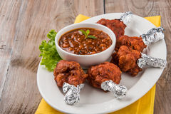 Tandoori鸡或鸡棒棒糖 免版税图库摄影