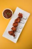 Tandoori鸡或鸡棒棒糖 图库摄影