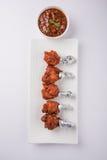 Tandoori鸡或鸡棒棒糖 库存照片